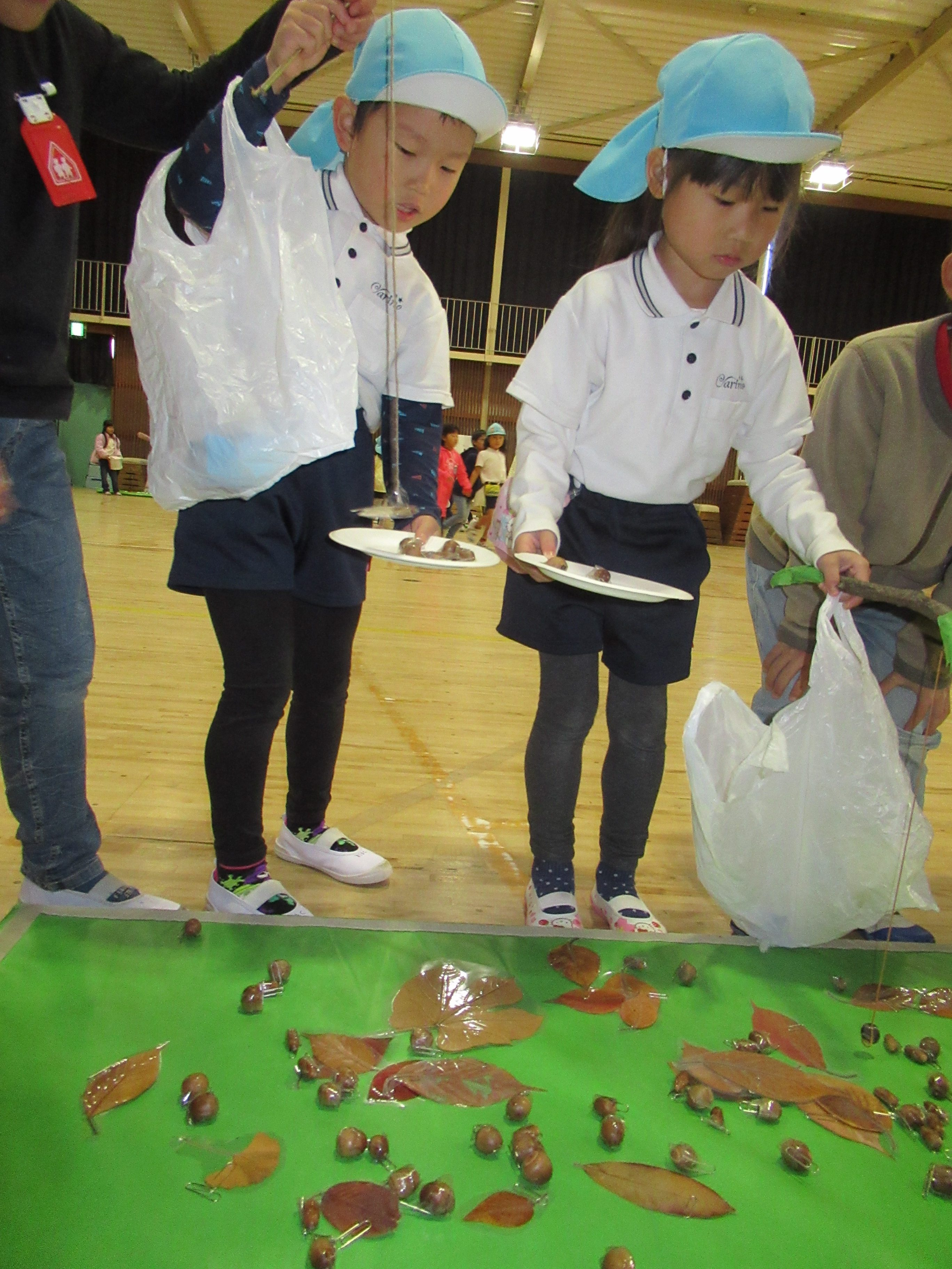 中央小学校 交流 秋祭り (松原カリーノ保育園)