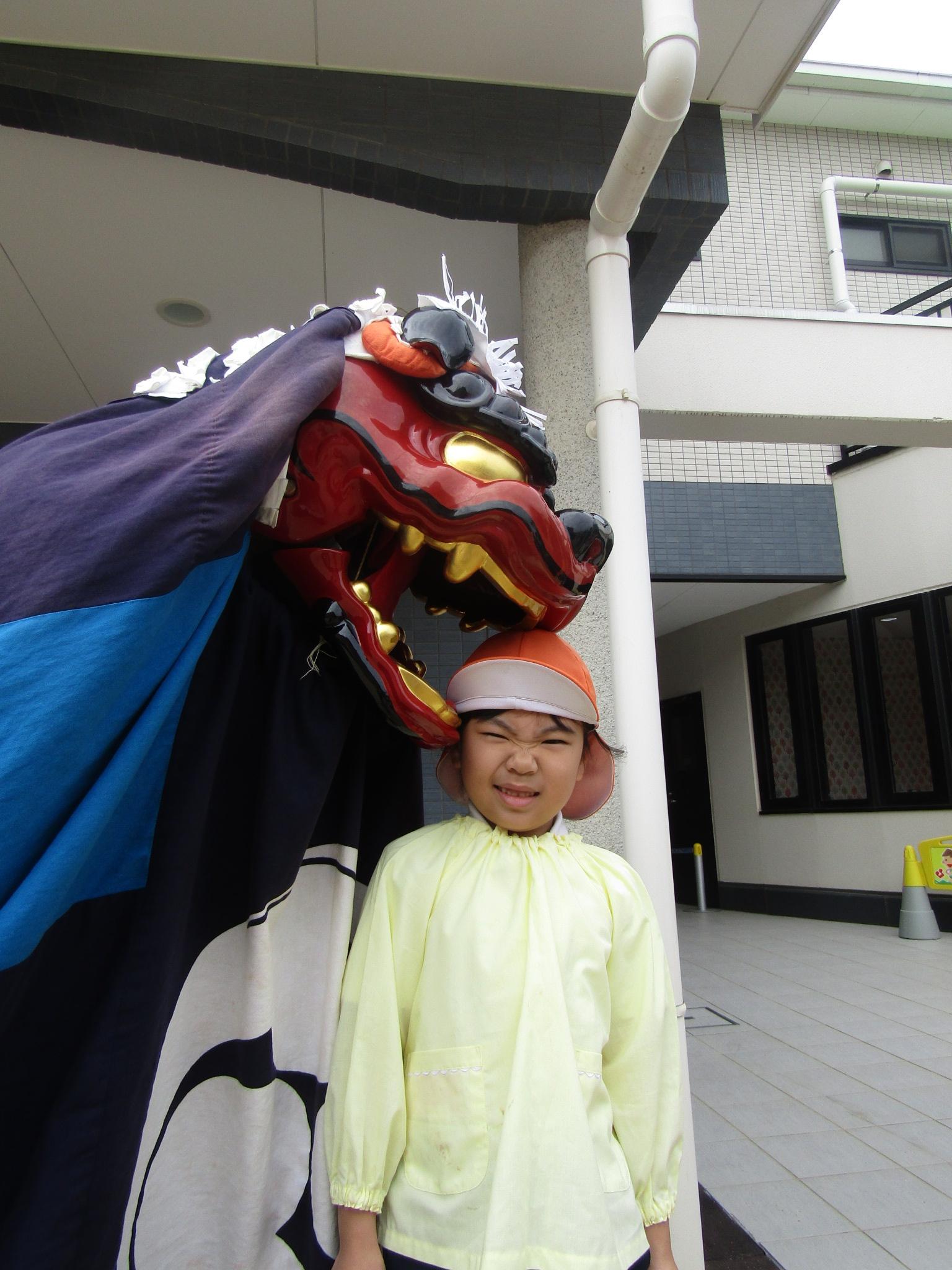 伝統芸能・獅子舞(松原カリーノ保育園)
