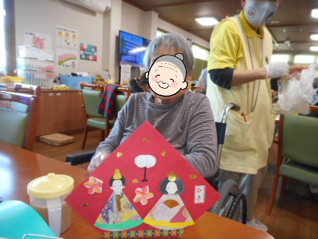 3月3日 桃の節句 (介護付有料老人ホームゆたか)
